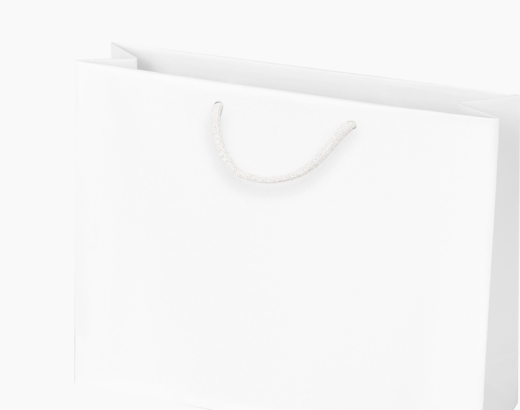 Biała torba papierowa