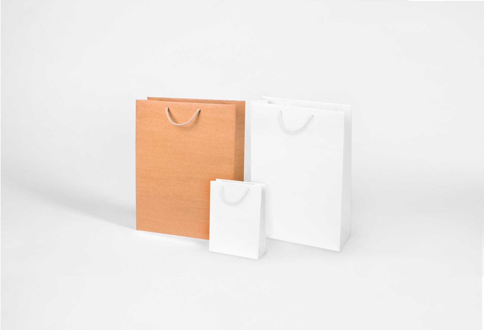 Torby papierowe białe i brązowe w 6 popularnych rozmiarach