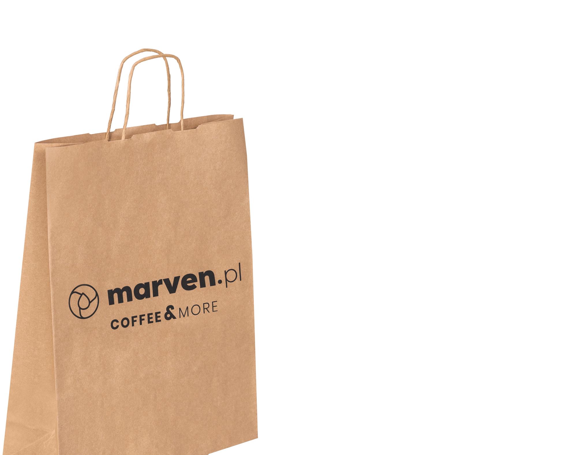 jednokolorowa torba papierowa - tanie torby białe lub brązowe z uchwytem skręcanym lub płaskim
